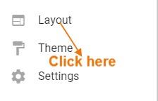 layout पर क्लिक करें