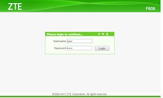 Password ZTE F609 TERBARU