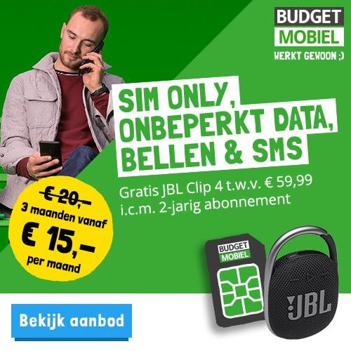 Budget mobiel onbeperkt data en bellen + vriendenvoordeel 5 euro op aansluitkosten