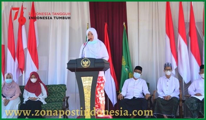 Pondok Pesantren Manbaul Ulum Tangsil Wetan,  Gelar Upacara Kemerdekaan 17 Agustus 2021 Dengan Penuh Semangat Perjuangan