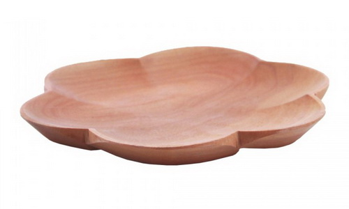 Plate-shaped flower Sapodilla wood gives interior design classic tone and natural