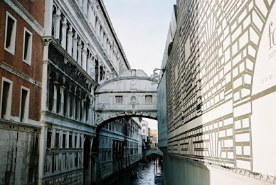 Bridge of Sighs in the style of the Baroque