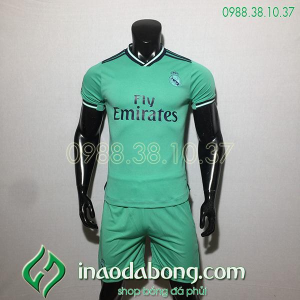 Áo bóng đá câu lạc bộ Real màu xanh 2020