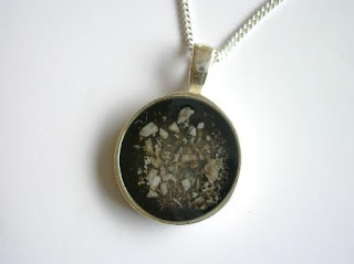 Sterling silver circular pendant for cremated ashes
