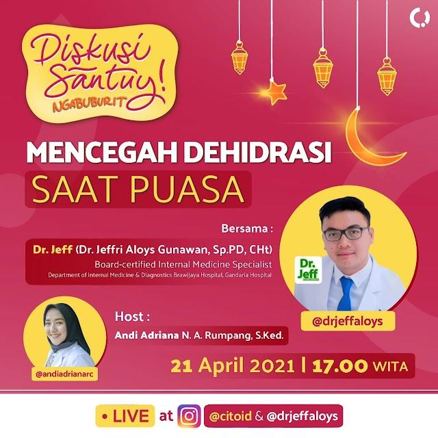 Live Instagram: Puasa dan Dehidrasi