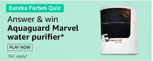 Amazon Eureka Forbes Quiz: Which of these does the RO technology in the Aquaguard Marvel (RO+UV+UF+MTDS) water purifier remove?