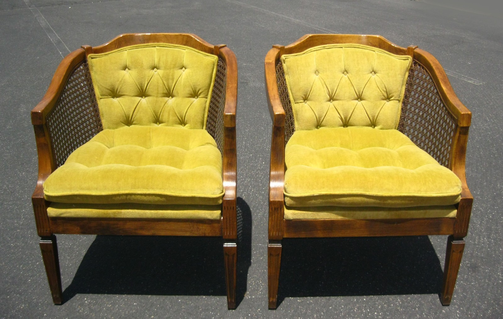 tufted yellow chair adult portable potty there s always ebay holy city chic