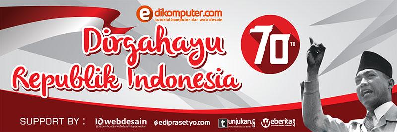Banner 17 Agustus 2015 70 tahun Indonesia Merdeka