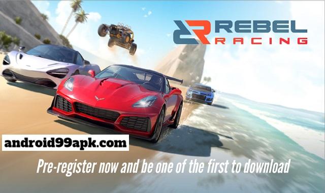 لعبة السباق Rebel Racing مهكرة كاملة بحجم 234 MB للأندرويد