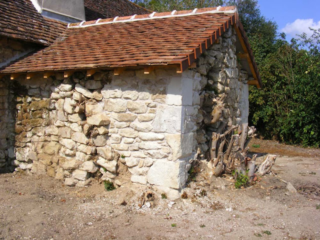 Partially renovated bread oven attached to a barn, Vienne, France. Photo by Loire Valley Time Travel.