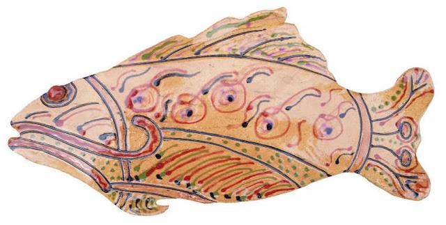 Native fish art brown fish