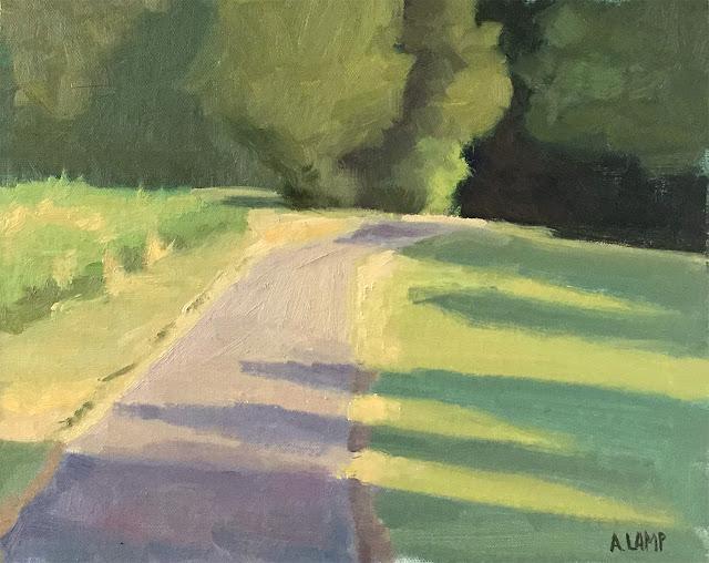 landscape study - plein air at Carroll Joyner Park Jun 30 2019