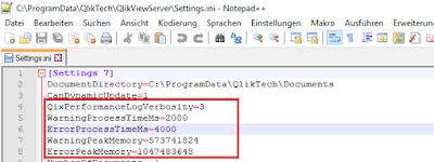 QlikView Server settings