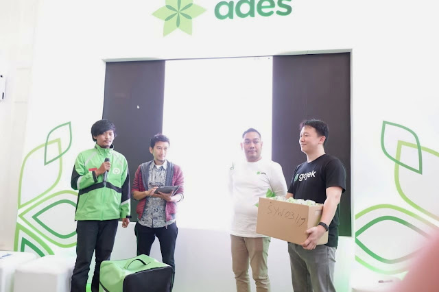 Sinergi Niat murni Ades dan Gojek untuk menyelematkan bumi