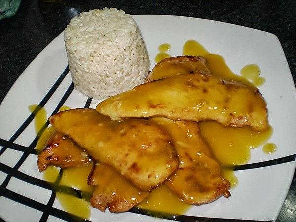 Receita de file de frango ao molho de laranja