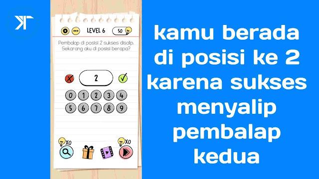 Kunci jawaban brain test level 6