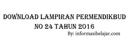 Permendikbud No 24 Tahun 2016
