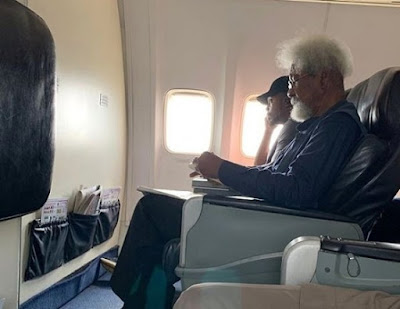 Wole Soyinka Denies Exchanging Contacts With The Boy That Denied Him Flight's Window Seat