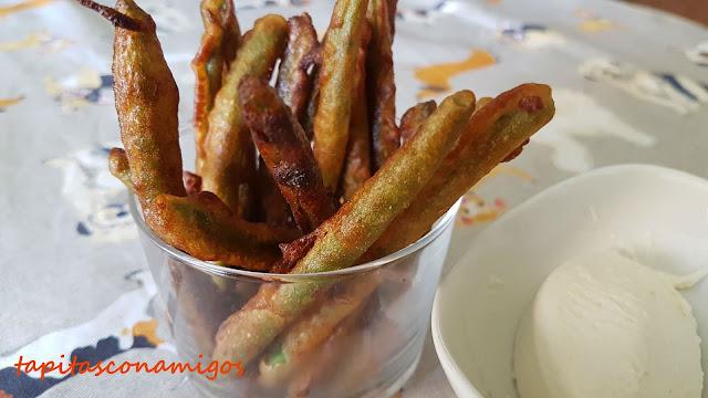 Judías verdes en tempura