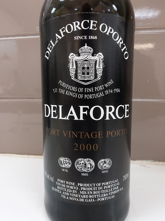 Delaforce Vintage Port 2000 (92 pts)