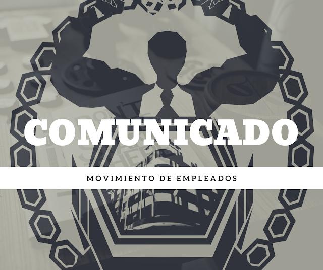 COMUNICADO del Movimiento de Empleados de la Corte de Cuentas informa: