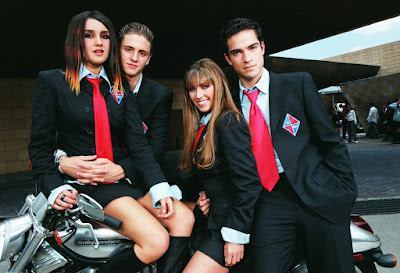 Roberta, Diego, Bia e Miguel: quarteto de rebelde