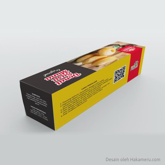Desain kemasan packaging box donat susu frozen untuk UMKM