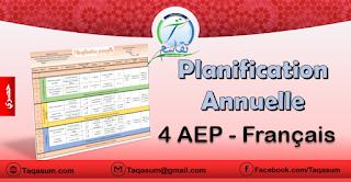 Planification Annuelle mon livre de français - 4AP