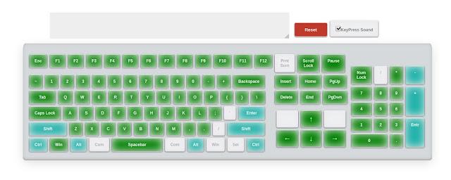 Test Verify Keyboard Keys Online