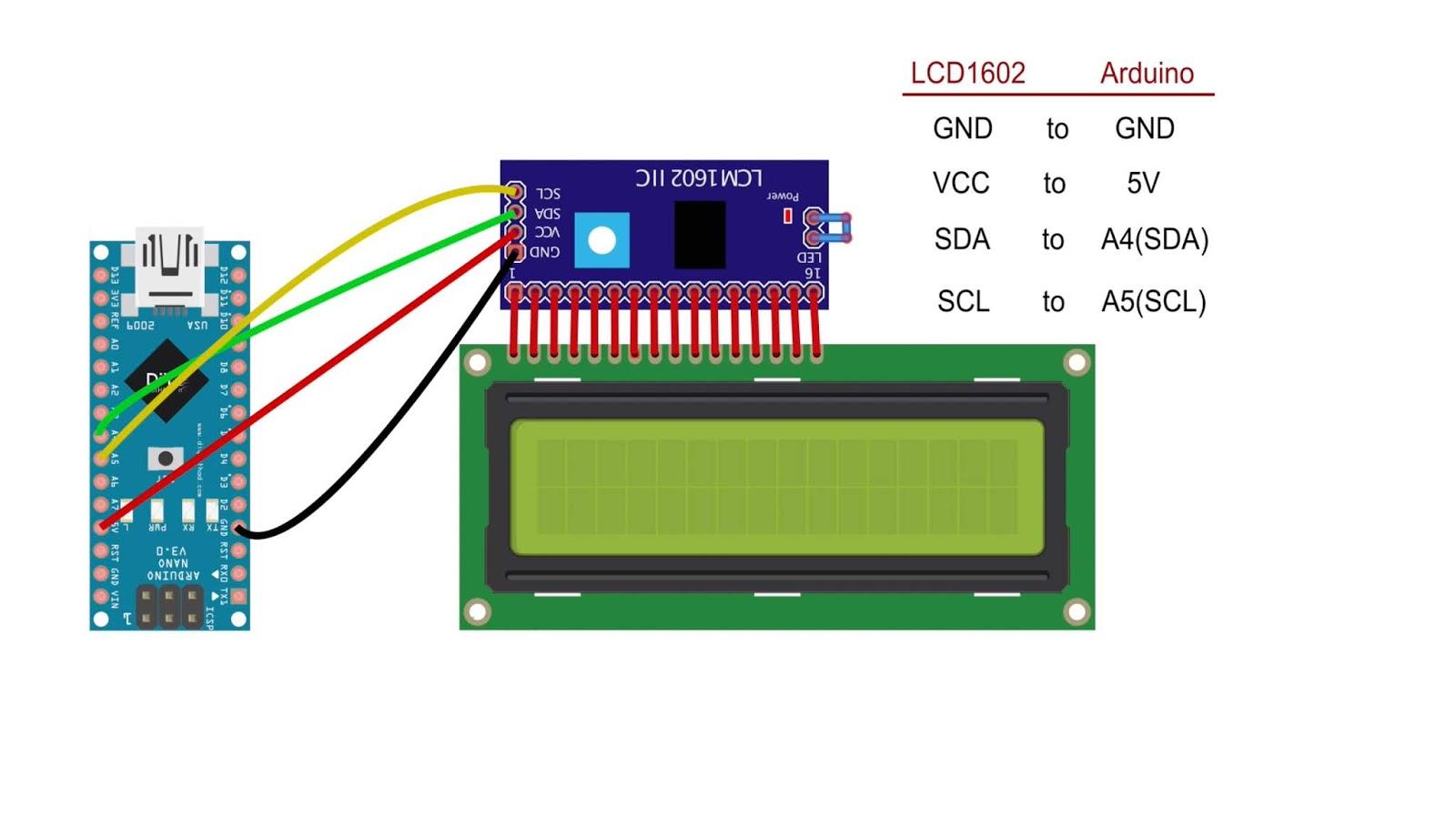 Arduino LCD I2C circuit