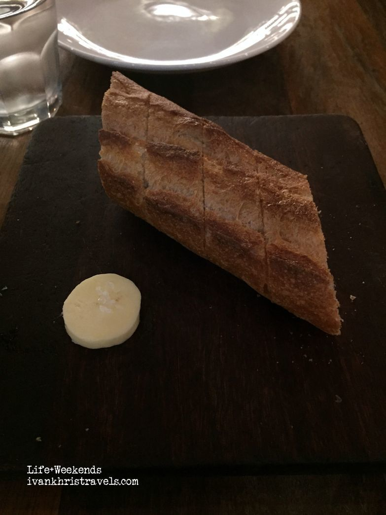Complimentary bread at Wildflour Cafe + Bakery