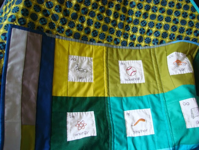 quilt with solid fabric border strips