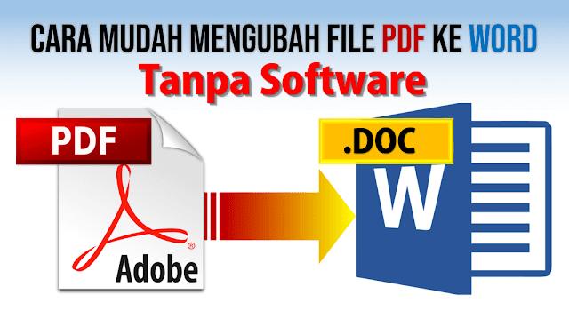 Cara Mengubah PDF ke Word tanpa Software