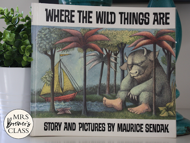 Where the Wild Things Are book study literacy unit Common Core companion activities for K-1