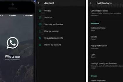 WhatsApp Segera Rilis Dark Mode di Android dan iOS