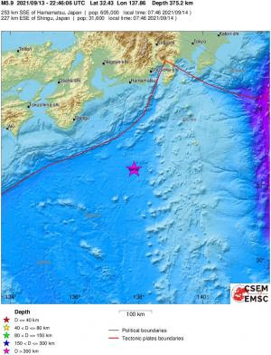 Magnitude 6.2 quake strikes off Japan