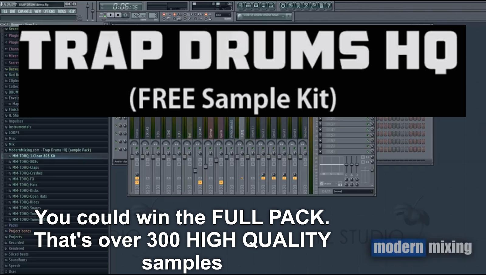 Gary Noble Show: Freebie Fri : FREE HQ Trap Drum Kit plus Youtube