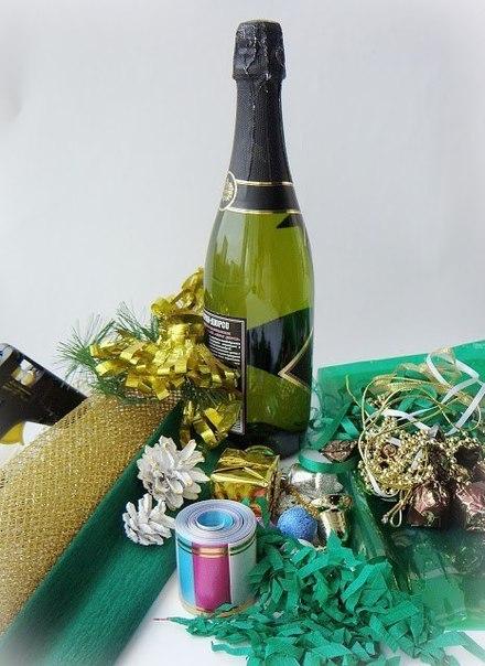 empaquetar botellas para regalo navidad