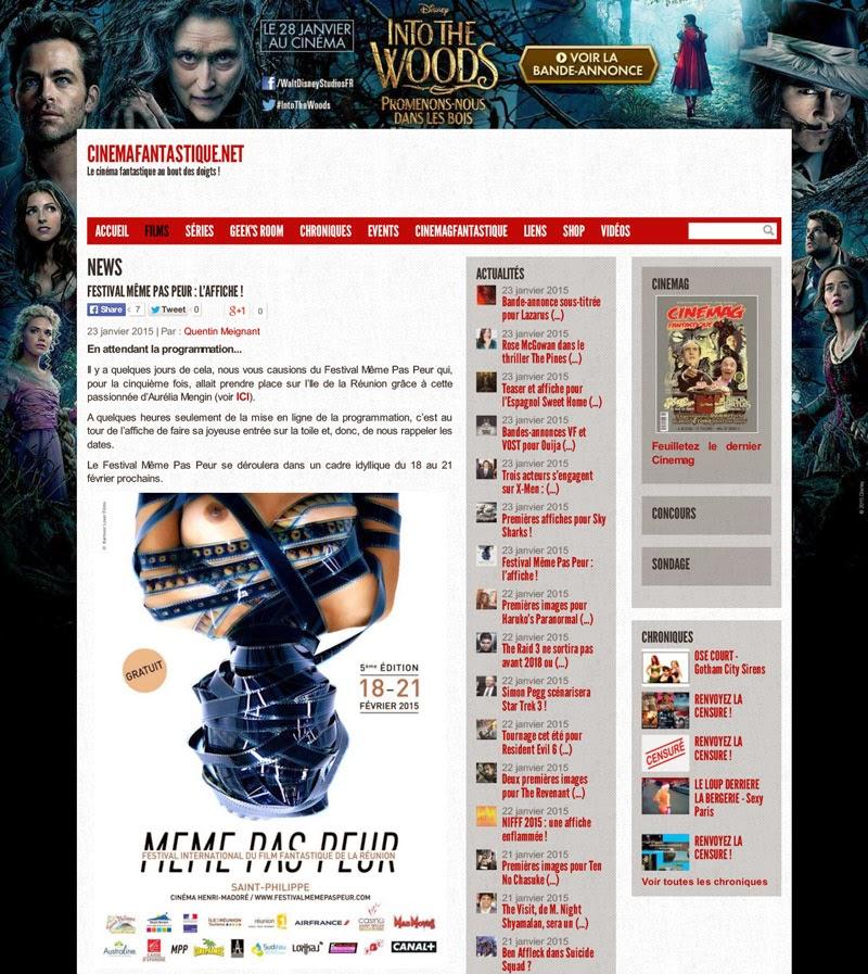 Festival MEME PAS PEUR dans CINEMAFANTASTIQUE.NET
