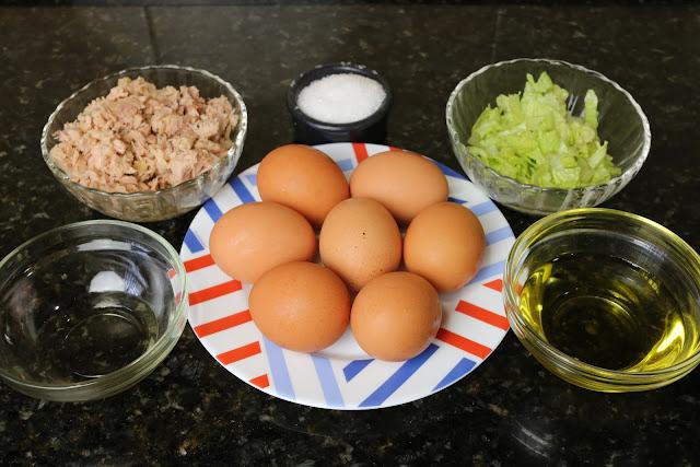 Ingredientes para huevos rellenos de atún y mayonesa