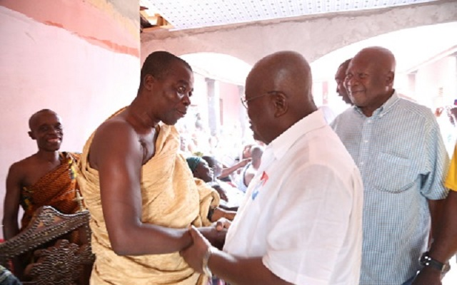 Ahafo Ano is deprived by the Mahama-led NDC government over the last 7 years and We have no choice but to support you - Ahafo Ano Chiefs tell Nana Akufo-Addo
