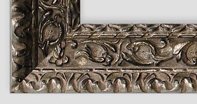 Cadre baroque milano: argent antique
