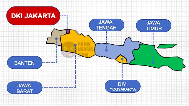Peta Pulau Jawa Lengkap