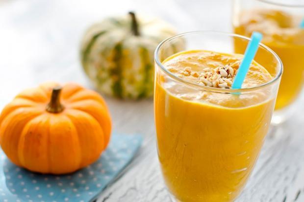 طريقة عمل سموثي القرع + الشيف أميرة شنب Pumpkin Smoothie