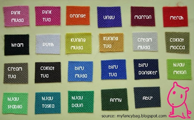 Warna kain kanvas untuk totebag