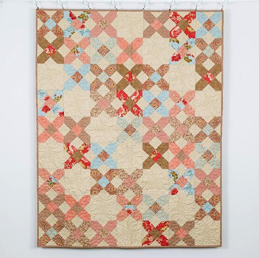 Criss Cross Quilt Designed by Moda fabrics