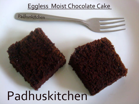 Eggless Chocolate Cake Inmicrowave
