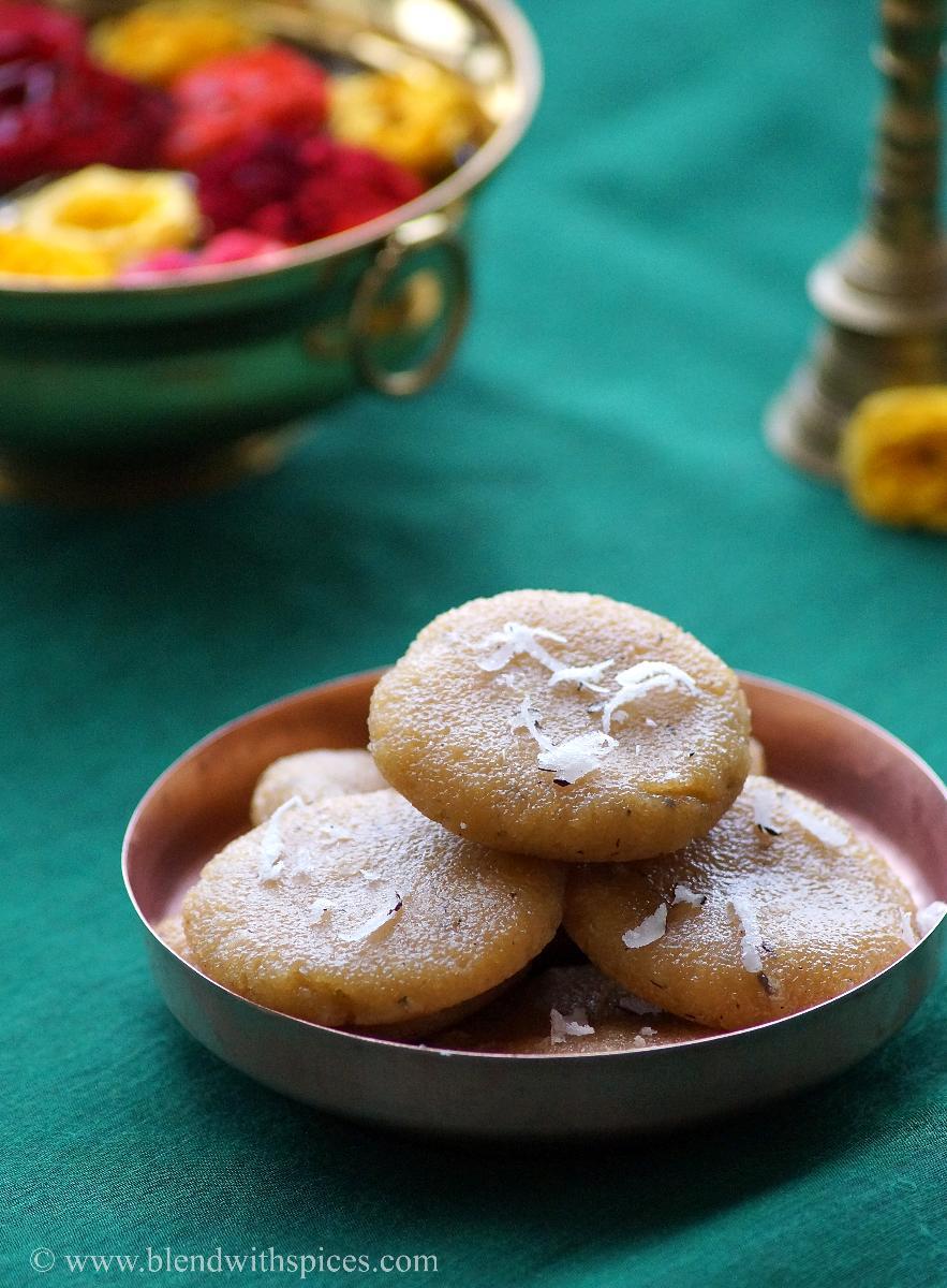 easy kudumulu recipe with rava and jaggery, ganesh chaturthi special prasadam