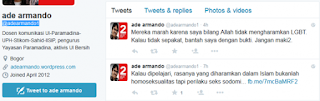 Logika Yang Dipermainkan - LGBT Di Mata Ade Armando
