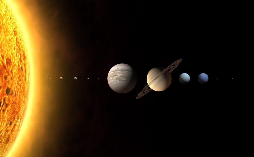 Modelo Do Sistema Solar Com As Proporções Reais Brasil